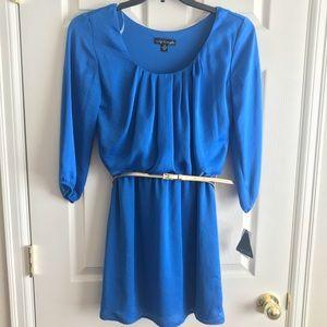 City Triangles royal blue dress